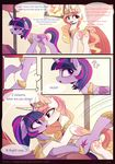 comic cutie_mark duo english_text equine eyelashes female feral friendship_is_magic hair hooves horn magnaluna mammal my_little_pony open_mouth princess_celestia_(mlp) purple_eyes purple_hair smile standing text twilight_sparkle_(mlp) winged_unicorn wings