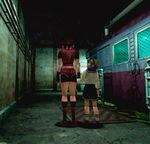 3d claire_redfield playstation polygon_jitter resident_evil resident_evil_2 sherry_birkin