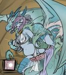 2016 after_sex better_version_at_source blue_skin breasts clothing cum cum_in_pussy cum_inflation cum_inside dragon female firekitty hair horn hybrid impregnation inflation kirin male open_mouth ovum penis pink_hair pussy raised_leg scalie sperm_cell wings zouyu