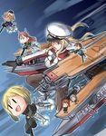 >:d >:o 6+girls :d :o afloat animal_ears binoculars black_legwear brown_hair capelet character_request chibi crossover dog_ears dog_tail dual_wielding erica_hartmann fairy_(kantai_collection) flight_deck flying from_above garrison_cap gertrud_barkhorn graf_zeppelin_(kantai_collection) gun hat heavy_machine_gun holding iron_cross kantai_collection kneeling light_brown_hair long_hair looking_up machine_gun machinery military military_uniform minigirl minna-dietlinde_wilcke multiple_girls necktie ocean open_mouth pantyhose peaked_cap purple_eyes short_hair silver_hair size_difference sketch smile steed_(steed_enterprise) strike_witches striker_unit tail turret twintails uniform waltrud_krupinski weapon wind world_witches_series