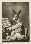 1799 18th_century ancient_furry_art aquatint book chair clothed clothing donkey emblem equine etching francisco_goya hi_res hooves jacket license_info los_caprichos male mammal monochrome pants public_domain semi-anthro sepia simple_background sitting solo spanish_text table text traditional_media_(artwork)