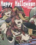 2girls breasts claw_pose cleavage fingernails fire_emblem fire_emblem:_monshou_no_nazo fire_emblem:_shin_ankoku_ryuu_to_hikari_no_tsurugi hair_between_eyes hair_over_one_eye halloween halloween_costume happy_halloween hat jewelry jiangshi jiangshi_costume large_breasts long_fingernails long_hair long_sleeves looking_at_viewer maria_(fire_emblem) mikimachi minerva_(fire_emblem) misheil_(fire_emblem) multiple_girls nail_polish necklace ofuda open_mouth pearl_necklace profile red_eyes red_hair red_nails robe short_hair siblings wide_sleeves