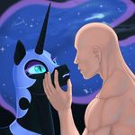 2017 arareroll armor duo equine female friendship_is_magic helmet hi_res horn human male mammal my_little_pony nightmare_moon_(mlp) nude unicorn