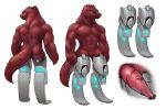 2019 abs amputee animal_genitalia animal_penis anthro biceps butt cetacean_penis close-up cockslit cybernetics cyborg digital_media_(artwork) dungeons_&_dragons erection futuristic genital_slit hi_res invalid_tag kobold lizard looking_at_viewer machine male model_sheet muscular muscular_male nude penis prosthetic reptile scales scalie scar science_fiction simple_background slit solo standing swolebold tapering_penis w4g4 yellow_sclera