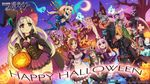 animal_ears armor azure_striker_gunvolt bandages cleavage dress halloween heels maid megane nekomimi tagme tail thighhighs wallpaper weapon wings witch