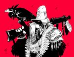 army avian bandolier bird corvid crow gun old_man ranged_weapon rifle sulacoyote weapon