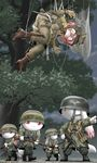 101st_airborne 1girl battle_rifle bolt_action dangling fallschirmjager fg42 gloves gun highres kaname_madoka knife kyubey mahou_shoujo_madoka_magica mauser_98 military mp40 parachute rifle saving_private_ryan scared shingyouji_tatsuya submachine_gun weapon