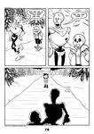 2017 animated_skeleton bone c-puff clothed clothing comic english_text group hi_res human humanoid mammal not_furry papyrus_(undertale) protagonist_(undertale) sans_(undertale) skeleton text undead undertale video_games