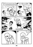 2017 animated_skeleton bone c-puff clothed clothing comic english_text group hi_res human humanoid mammal not_furry sans_(undertale) skeleton text undead undertale video_games