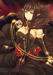 assassin_of_red_(fate/apocrypha) cleavage dress fate/apocrypha fate/stay_night gu_li pointy_ears
