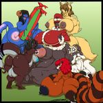 backsack balls big_breasts breasts canine christmas cock_vore deon_(deonwolf) deonwolf dickgirl dragon fisting fur group hair hat holidays intersex male mammal multicolored_fur nadeena nipples penetration penis red_hair santa_hat seras_greil signature simple_background slime trisha_(desmondpony) two_tone_fur urethral urethral_fisting urethral_penetration vore yuksi zed