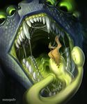 6_eyes abstract_background ambiguous_gender anthro arthropod big_eyes blue_lips blue_scales brown_fur bulge cervine close-up darou detailed_scales digital_media_(artwork) digital_painting_(artwork) duo forked_tongue fur glottis glowing glowing_eyes green_eyes green_flesh headshot_portrait hooves huge_eyes hybrid insect mammal maryquize multi_eye multi_mouth multi_teeth portrait realistic saliva scales scalie shaded sharp_teeth signature size_difference snout soft_shading solo_focus teeth tongue tongue_sheath vore