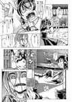 2girls ascot bow comic comizku dress futon gohei gradient_hair greyscale hair_bow hair_tubes hakurei_reimu hijiri_byakuren long_hair long_skirt monochrome multicolored_hair multiple_girls page_number shirt short_hair skirt sleeveless sleeveless_shirt touhou translation_request