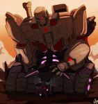 alien ambiguous_penetration cum cum_inside cybertronian decepticon digital_media_(artwork) duo felixfellow humanoid living_machine lying machine male male/male male_penetrating mask megatron missionary_position muscular not_furry on_back open_mouth penetration red_eyes robot sex simple_background spread_legs spreading steam tarn_(transformers) teeth transformers
