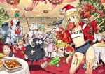 6+girls abigail_williams_(fate/grand_order) altera_(fate) arjuna_(fate/grand_order) artemis_(fate/grand_order) artoria_pendragon_(all) blonde_hair boned_meat braid cake caladbolg chacha_(fate/grand_order) christmas christmas_tree cleopatra_(fate/grand_order) denim denim_shorts fate/grand_order fate_(series) flagpole food fruit gae_bolg gift grapes hat hessian_(fate/grand_order) ibaraki_douji_(fate/grand_order) jack_the_ripper_(fate/apocrypha) jeanne_d'arc_(alter)_(fate) jeanne_d'arc_(fate)_(all) jeanne_d'arc_alter_santa_lily julius_caesar_(fate/grand_order) karna_(fate) lobo_(fate/grand_order) lobster macaron mash_kyrielight meat merry_christmas mordred_(fate) mordred_(fate)_(all) multiple_girls nero_claudius_(fate)_(all) nursery_rhyme_(fate/extra) orion_(fate/grand_order) paul_bunyan_(fate/grand_order) ponytail rama_(fate/grand_order) redrop saber sandwich santa_alter santa_hat scathach_(fate/grand_order) shorts snowman strapless table tubetop white_hair
