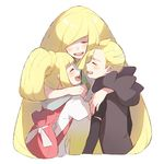 1boy 2girls backpack bag blonde_hair brother_and_sister eyes_closed gladio_(pokemon) hood hoodie hug lillie_(pokemon) long_hair long_sleeves lusamine_(pokemon) mother_and_daughter mother_and_son multiple_girls open_mouth pokemon pokemon_(anime) pokemon_(game) pokemon_sm pokemon_sm_(anime) ponytail shirt short_hair short_sleeves siblings simple_background tearing_up tears torn_clothes unadayoo00 white_background white_shirt