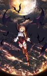 1girl absurdres alternate_costume alternate_hairstyle argyle ascot bangs bare_tree bat black_background black_gloves blonde_hair blush boots braid brown_footwear cloud collared_shirt commentary_request cup drinking_glass eyebrows_visible_through_hair eyes_visible_through_hair fangs flight floating floating_hair flying french_braid full_body girls_frontline gloves green_eyes gun halloween handgun high_heel_boots high_heels highres holster holstered_weapon light_particles long_sleeves looking_at_viewer moon night night_sky o-ring open_mouth outstretched_hand red_wings reflection shiny shiny_clothes shiny_hair shirt short_hair_with_long_locks skindentation sky smile solo star sweatdrop thigh_boots thigh_holster thighhighs torn_wings tree tttanggvl vampire vampire_costume weapon welrod_mk2 welrod_mk2_(girls_frontline) white_shirt wide_sleeves wine_glass wing_hair_ornament wings wristband