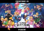 alternate_species ambiguous_gender animal_humanoid bowser bowsette_meme captain_falcon cephalopod cephalopod_humanoid crossgender crown donkey_kong_(series) english_text f-zero female fox_mccloud game_and_watch green_yoshi group gun hi_res human humanoid humanoidized inkling kirby kirby_(series) link mammal marine mario mario_bros melee_weapon metroid mollusk mr._game_and_watch nintendo parasol pikachu pit_(kid_icarus) pokémon pokémon_(species) pokémon_humanoid princess_peach ranged_weapon reptile reptile_humanoid ridley scalie splatoon star_fox super_crown super_smash_bros super_smash_bros._ultimate sword text the_legend_of_zelda thejohnsu video_games vines weapon wings yoshi