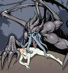 4_eyes alien blue_nipples breasts butt cartoon_network claws crossover empty_eyes evolve_(copyright) face_tentacles female gem_(species) grey_skin hair humanoid interspecies izra kraken_(evolve) larger_male licking_butt long_tongue looking_pleasured love lying male male/female monster multi_eye muscular nipples nude orange_hair pearl_(steven_universe) rock romantic_couple sharp_claws sharp_teeth short_hair size_difference small_breasts smile spread_out steven_universe teeth tentacle_hair tentacles tongue white_skin wings
