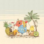 artist_name beach bird bunny cherry cup drink drinking_glass drinking_straw flower food fruit glass hamster hedgehog kiwi_slice kiwifruit mojacookie no_humans orange orange_slice original palm_tree pineapple seashell shell starfish summer tree