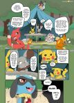 audino buizel bunnelby charmeleon colored comic dialogue english_text insomniacovrlrd jewel_(insomniacovrlrd) nintendo pikachu plum_(insomniacovrlrd) pokémon pokémon_(species) redoxx riolu text tranquill video_games
