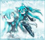<3 ann-jey blue_eyes blue_fur boots canine clothing coat ear_tuft fan_character female footwear fur hair headphones long_hair mammal miniskirt skirt solo sonic_(series) supershadowhitt tuft white_tail wolf