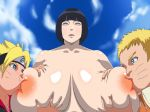 1girl areolae black_hair blush breast_grab breast_squeeze breast_sucking breasts female groping huge_breasts hyuuga_hinata incest kuroko_no_kuro lavender_eyes lips milf mother mother_and_son naruto nipples nude open_mouth short_hair uzumaki_boruto uzumaki_naruto