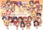 6+girls ahoge black_hair blonde_hair blush bow brown_hair chibi closed_mouth eyepatch fang fujimoto_rina glasses grey_hair hair_bow hair_ornament hairclip hayami_kanade hayasaka_mirei headphones heart hino_akane_(idolmaster) honda_mio hori_yuuko horns hoshi_shouko ichinose_shiki idolmaster idolmaster_cinderella_girls igarashi_kyouko jougasaki_mika jougasaki_rika kamijou_haruna kamille_(vcx68) kawashima_mizuki kimura_natsuki kohinata_miho koshimizu_sachiko long_hair looking_at_viewer matsunaga_ryou miyamoto_frederica mukai_takumi multicolored_hair multiple_girls namba_emi ninomiya_asuka ogata_chieri open_mouth parted_lips pink_hair purple_hair red_bow red_hair sakurai_momoka sasaki_chie scrunchie shibuya_rin shimamura_uzuki shiomi_shuuko short_hair short_ponytail short_twintails side_ponytail skirt smile tada_riina takamori_aiko teeth twintails ueda_suzuho v white_skirt yamato_aki
