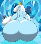 2018 absurd_res adventure_time back_boob big_breasts big_butt blue_skin breasts butt cartoon_network crossgender crown female hair hi_res huge_breasts huge_butt human humanoid ice_queen long_hair looking_back mammal not_furry nude rear_view solo tasteofchoklit voluptuous white_hair wide_hips