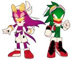 anthro avian bird clothing duo english_text female gloves hi_res jet_the_hawk legendarywindmaster male signature sonic_(series) sonic_riders text video_games wave_the_swallow