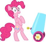 blue_eyes cannon cutie_mark earth_pony equine female feral friendship_is_magic fur hair horse mammal mrcbleck my_little_pony party_cannon pink_fur pink_hair pinkie_pie_(mlp) pony ranged_weapon solo weapon
