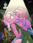 2015 anthro anthrofied berry_punch_(mlp) big_breasts breast_grab breasts cheerilee_(mlp) clothing crowd dress drunk duo_focus earth_pony equine exposed_breasts female female/female friendship_is_magic grope group hair hand_behind_head hand_on_breast hi_res holidays horse kissing male mammal my_little_pony new_year pink_hair pony surprise threewontoo