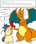 bork charizard cute digital_media_(artwork) feral nintendo pokémon pokémon_(species) red_eyes simple_background typhlosion video_games