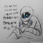 animated_skeleton bed bedding blanket bone caprine clothed clothing english_text hi_res humanoid male mammal monochrome not_furry sans_(undertale) scared skeleton solo text thelostmoongazer undead undertale video_games wingdings