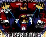 5:4 aftertale alternate_universe animated_skeleton blood bone clothed clothing error errortale geno_sans_(aftertale) glitch gold_(metal) gold_tooth hoodie loverofpiggies male nightmare_fuel not_furry sans_(undertale) skeleton skull smile soul strings text undead underfell undertale video_games wounded