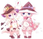 2girls artist_request blonde_hair blue_eyes cat cat_busters damaged_clothes furry purple_eyes