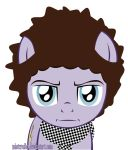 alpha_channel blue_eyes bob_dylan cutie_mark equine friendship_is_magic guitar handkerchief horse looking_at_viewer mammal misteraibo musical_instrument my_little_pony ponification pony simple_background solo transparent_background