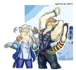 2018 anthro biceps cat clothed clothing clouded_leopard feline fur hoodie leopard leopard_cat likulau male mammal muscular nekojishi shu-chi simple_background spots wolfmalro
