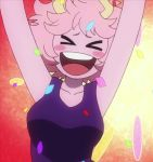 1girl animated animated_gif ashido_mina boku_no_hero_academia pink_hair pink_skin