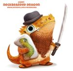 ambiguous_gender anthro bearded_dragon black_eyes body_pillow brown_hair claws clothing cryptid-creations fangs female footwear hair humor katana lizard melee_weapon neckbeard nude orange_scales pillow pun reptile sandals scales scalie simple_background solo sword trilby_(hat) visual_pun weapon white_background