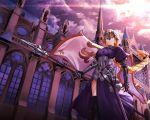 armor fate/apocrypha fate/grand_order fate/stay_night jeanne_d'arc jeanne_d'arc_(fate) oekakizuki sword thighhighs weapon