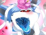 <3    red_eyes blue_hair eeveelution female female_pred female_predator first_person_view flower fur hair invalid_tag memento~mori mouth_shot nintendo open_mouth oral_vore plant pokémon pokémon_(species) saliva soft_vore solo sylveon teeth throat tongue tongue_out uvula video_games vore white_fur
