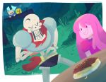 2015 adventure_time animated_skeleton bone canine cartoon_network crossover dog female finn_the_human human humanoid jake_the_dog male mammal natouu not_furry_focus papyrus_(undertale) princess_bubblegum skeleton undead undertale video_games