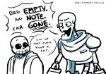... animated_skeleton blue_eyes bone bones-n-boners clothing dialogue duo english_text male not_furry papyrus_(undertale) sans_(undertale) simple_background skeleton text undead undertale video_games white_background