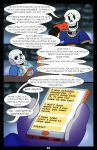 absolutedream animated_skeleton bone comic comic_sans dialogue english_text papyrus_(undertale) phone sans_(undertale) skeleton text undead undertale video_games
