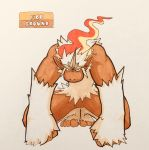 2018 4_toes alternate_color alternate_species ambiguous_gender ape arm_tuft biceps big_hands black_eyes brown_skin crouching crystal english_text fakémon feral fire firefightdex fist flaming_hair front_view full-length_portrait fur hair hatching_(technique) hi_res infernape looking_at_viewer mammal marker_(artwork) mfanjul mixed_media muscular muscular_ambiguous nintendo pen_(artwork) pokémon pokémon_(species) portrait primate pseudo_clothing raised_heel semi-anthro shadow simple_background slit_pupils solo stare text toes toony traditional_media_(artwork) video_games white_background white_fur