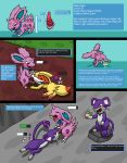 canid canine comic erection fellatio female fennekin feral fox gau_(artist) male mammal nidoran nintendo oral penis pokémon pokémon_(species) pokémon_mystery_dungeon rat rattata rodent sex urine video_games