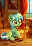 2018 amber_eyes asimos cello collaboration curtains cute cutie_mark drum equine female feral friendship_is_magic green_hair hair hooves horn inside lexx2dot0 lyra_heartstrings_(mlp) lyre magic mammal maytee multicolored_hair music musical_instrument my_little_pony nude picture_frame portrait shadow sitting smile solo two_tone_hair unicorn white_hair window wood wood_floor young
