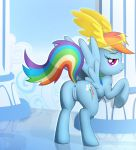 anus bedroom_eyes butt cloud cutie_mark eyelashes feathered_wings feathers female friendship_is_magic hair half-closed_eyes happy looking_back multicolored_hair multicolored_tail my_little_pony naughty_face presenting presenting_hindquarters presenting_pussy pussy rainbow_dash_(mlp) raised_tail seductive smile source_request unknown_artist wings
