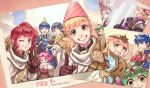 5boys 6+girls alfonse_(fire_emblem) alm_(fire_emblem) anna_(fire_emblem) armor black_gloves blonde_hair blue_eyes blue_hair bow brown_gloves cake chiki circlet crown cup d0o00o0b eating eyes_closed fa facial_mark feh_(fire_emblem_heroes) fingerless_gloves fire_emblem fire_emblem:_fuuin_no_tsurugi fire_emblem:_monshou_no_nazo fire_emblem:_souen_no_kiseki fire_emblem_echoes:_mou_hitori_no_eiyuuou fire_emblem_heroes fire_emblem_if fjorm_(fire_emblem_heroes) food forehead_mark fork from_side gloves green_eyes green_hair grey_hair grin hat headband holding ike long_hair mamkute marks_(fire_emblem_if) marth multiple_boys multiple_girls one_eye_closed open_mouth party_hat photo_(object) ponytail purple_hair red_bow red_eyes red_hair sharena short_hair smile teacup tiara veronica_(fire_emblem)